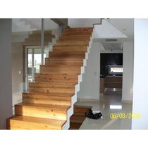 Escaleras De Madera Pinotea Nueva Maquinada De Tirantes 3x6
