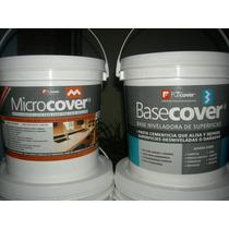 Combo Microcemento + Base Niveladora Fibrada + Laca 5 A 7 M2