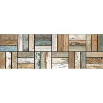Porcelanato Madera 19x58 Listones Mosaico Vintage Tipo Ilva