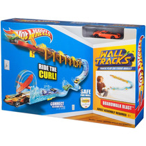Pista Acrobacia Autos Hot Wheels P/ Pared Y Piso Boardwalk
