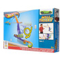 Pista Acrobacia Autos Hot Wheels Pared Piso Swing Arm Slide