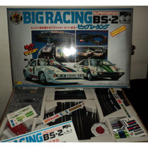 Juguete Antiguo Pista Autos Big Racing Made In Japan