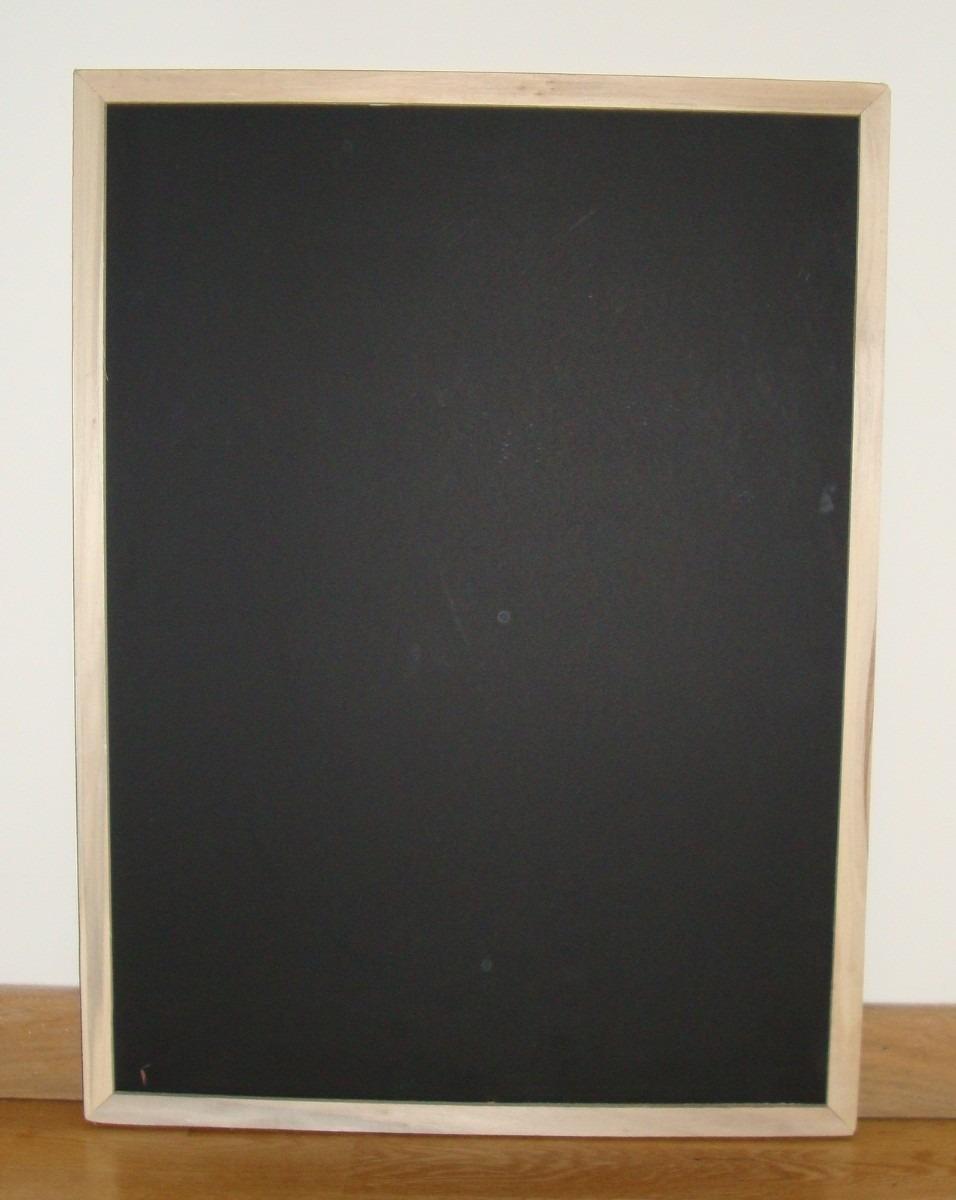 Pizarrón Para Tiza Verde O Negro 45 X 60 Cm - Marco Madera - $ 117 ...