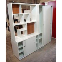 Divisor De Ambiente Placard Baulera Biblioteca Diseño