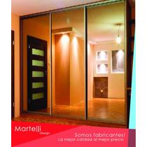 Frente De Placard Con Espejo 3,00m X 2,60m (3 Puertas)