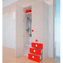 Placard 2 Puertas Y 4 Cajones En Combinación De Colores