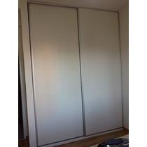 Frente Placard Melamina Blanco 180x240 Cm C/guías Aluminio