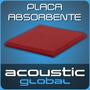 Placa Panel Acustico 40mm Liso Absorbente Sala De Ensayo