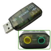 Placa De Sonido Notebook Pc 5.1 Audio Usb 3d Sound 5.1