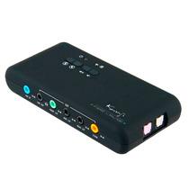 Placa De Sonido Externa Usb 2.1 Kanji 8ch Mic Optica Digital