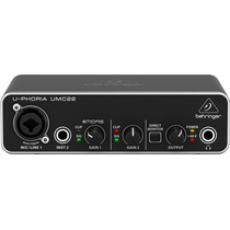 Behringer Umc22 Interface Usb 2x2 Audiophile Midas Preamp