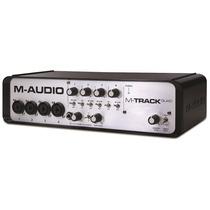 M-audio M-track Quad 4 Canales + Midi + Cero Latencia