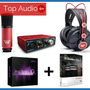 Focusrite Scarlett Solo Studio + Software + Gtia * Top Audio