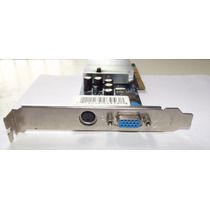 Placa De Video Agp Geforce Gf Mx4000 64mb Ddr Tv