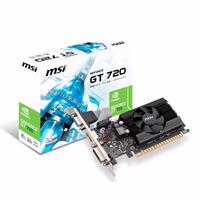 Placa De Video Geforce 2gb Msi N720-2gd3lp +gtía Oficial !