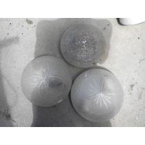 3 Plafones De Vidrio Esmerilado Buen Estado A $99 C/u