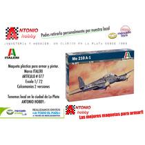 Messersmitch Me 210 A1 Italeri 077 Alemán Maqueta 1/72