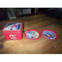 Caja Con Platos De Coca Cola Ideal Coleccionistas