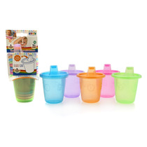 Vasos Apilables C/tapas Antiderrame (x5) Baby Innovation