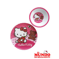 Set De Platos Infantiles Melamina - El Mundo De Hello Kitty