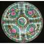 Plato Decorativo Porcelana Oriental Sello Rojo 26 Cm. (pr1f)