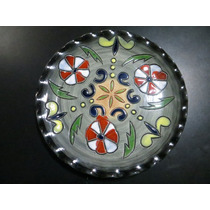 Plato De Ceramica Decorativo Adorno Para Pared Gris