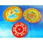 El Arcon Lote De Platos De Ceramica Pintados A Mano 27109