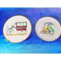 El Arcon Par De Platos De Porcelana Verbano Bicicleta 29110