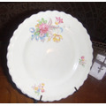 Antiguo Plato Ingles Marfil Bouquet Floral Exc Estado Bello