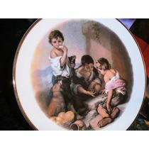 Antiguo Delicioso Plato Porcelana Verbano Colección Murillo
