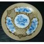 Importante Plato De Pared Porcelana Limoges Con Flores 25 Cm