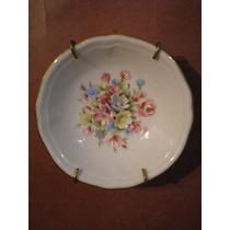 Antiguo Platito De Porcelana Verbano Pintado A Mano Sellado