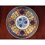 Plato Porcelana Japonesa Imari 19.5 Cm Diám Sello 6 Caracter