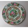 Antiguo Plato Japones Canton Porcelana Sello Rojo Oro 24 K