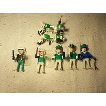 Playmobil Policia 2 Motos+munecos+accesorios Geobra Año 1974