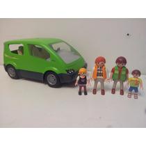 Playmobil Argentina Auto Verde Familia Tipo Van Asiento Recl