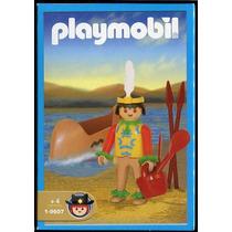 Playmobil 1-9607 Indio Con Canoa Y Accesorios