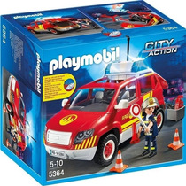 Playmobil Coche Jefe De Bomberos Con Luces Y Sonidos 5364