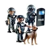 Playmobil City Action 3 Policias Y Perro Policia Art. 5186