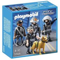 Playmobil 5565 Escuadron Policia Espc. Juguetería El Pehuén