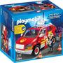 Playmobil Coche Jefe De Bomberos Con Luces Sonidos Art 5364
