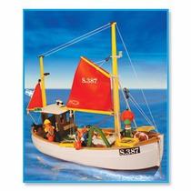 Playmobil Barco De Pesca Original Antex
