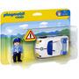 Playmobil 1.2.3. Auto Policia 679 Incluye 1 Muñeco 18 Meses+
