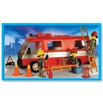 Playmobil Camion Bomberos Con Muñecos Y Accesorios Original