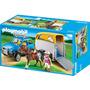 Playmobil 5223 Vehiculo Con Remolque Para Ponys