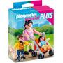 Playmobil Mini Mama Con Nino Y Coche Tuni4782