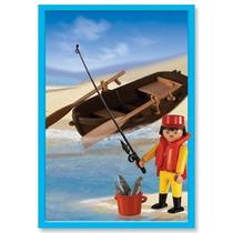 Playmobil Pescadores Con Muñeco Articulado Original Antex