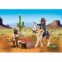Playmobil Western Cowboys Sheriff Ladron Caballo