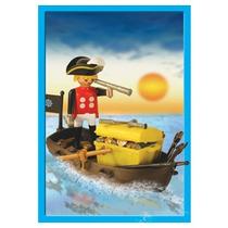 Playmobil Pirata Con Canoa 13570