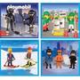 Playmobil Brigada, Policia Ladron Esquiadores Seg. Ambiental